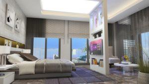 YatakOdasi00102 300x169 Luksus ferieleiligheter ved Middelhavet  Alanya