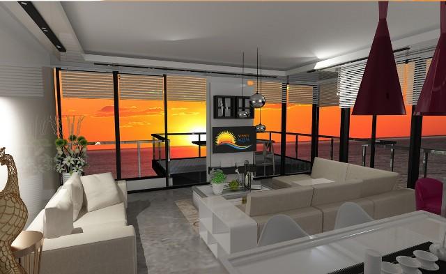Best000029 luksusleilighet på stranden med 2 soverom,  i Mahmutlar Alanya