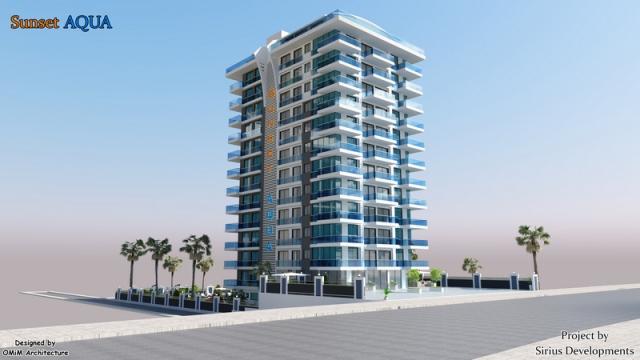 Best00012 luksusleilighet på stranden med 2 soverom,  i Mahmutlar Alanya