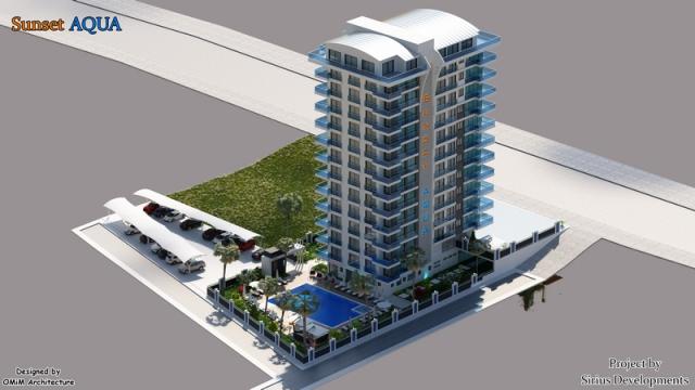 Best00016 luksusleilighet på stranden med 2 soverom,  i Mahmutlar Alanya