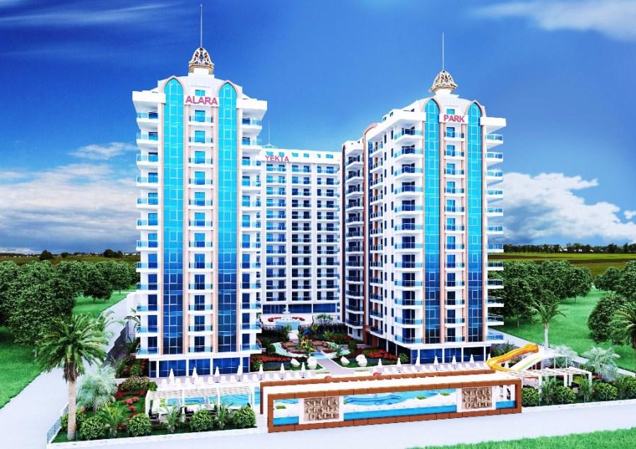Yekta AlaraPark 3D 001 Selge leilighet Alanya ?   Fast, lav pris bolig